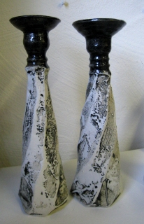 Dreid_fasettskåret_lysest.m.porselen_h_27cm.kr.990.Maalfrid_Keramikk2